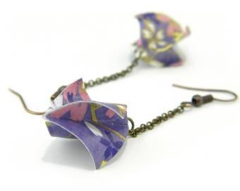 Origami earring Elice