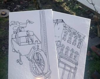 Custom Ink Drawing 4x6 Postcard