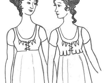 Early 19th Century Short Stays - Corset Sewing Pattern - Nehelenia Brand - To clear!