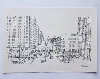 New York City Line Drawing