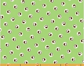One Yard A is For... - Comma in Green - Cotton Quilt Fabric - by MY-KT for Windham Fabrics (W2166)