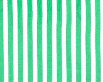 Michael Miller - Hollywood Pixies - Clown Stripe - Green/White - CX3584 GREE D - 100% cotton fabric - Fabric by the yard(s)