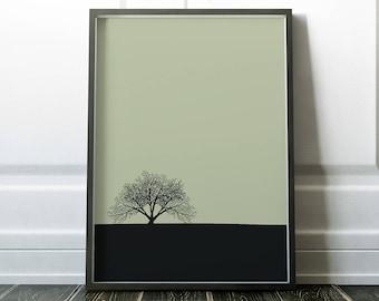 Tree Print, Tree Art, Wall Art Print, Minimalist Print, Minimalist Art, Scandinavian Art, Minimalist, Modern Art, Scandinavian Print
