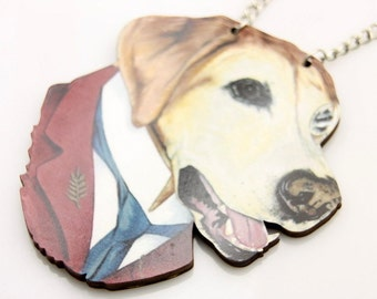 Necklace Dog wooden