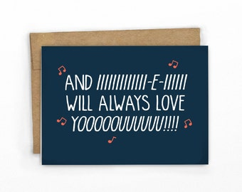 Funny Love Card  | Funny Valentines Card | Whitney Houston Always Love YOOUUU! by Cypress Card Co.