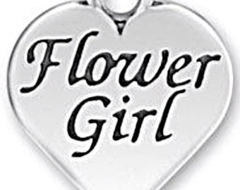 "Sterling Silver Flower Girl  Pendant or Charm. Almost 3/4"" X 5/8"". Great for necklace or bracelet. Thick and sturdy!"