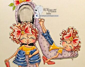 INSTANT DOWNLOAD Digital Digi Stamps Big Eye Big Head Dolls NEW Sweet Treats Besties img653 My Besties By Sherri Baldy