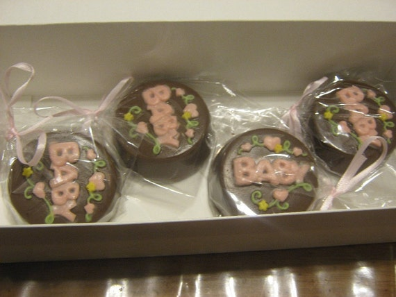 Baby design chocolate covered double stuffed oreos