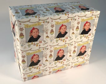 Personalized Birthday Photo Gift Wrapping Paper