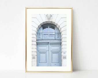 Paris Prints // Blue Wall Art // Blue Door // French Decor // Gallery Wall Prints // Paris Door Art