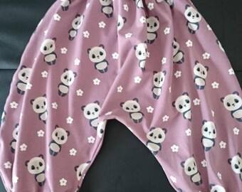 Baby panda harem pants