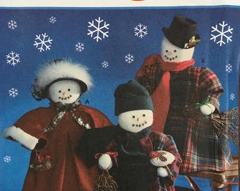 Simplicity Crafts Pattern 9265 Faith Van Zanten 18-Inch Snowmen and Clothing