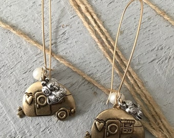 Camper Earrings with Charms