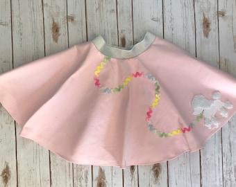 Poodle Skirt, Girls Poodle Skirt, 50s skirt