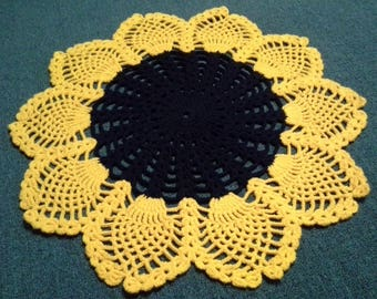 Sunflower Crochet Rug, Sunflower Rug, Handmade Rug, Kids Rug, Crochet Rug kids, Kids carpet, Crochet carpet, Nursery rug, Baby rug