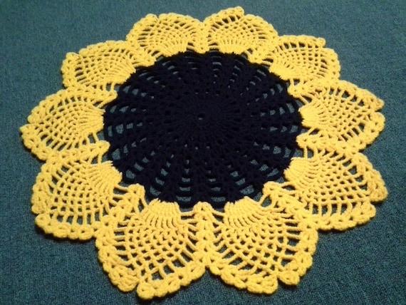 Sonnenblume häkeln Teppich Sonnenblume Teppich