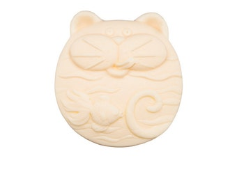 Natural goat's milk soap cat