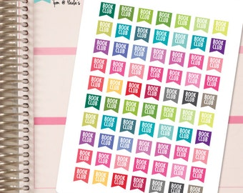 Planner Stickers Book Club Page Flags