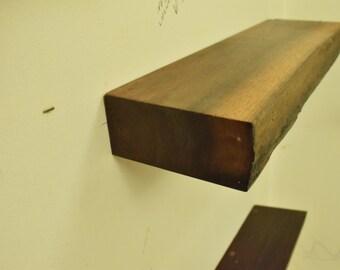 No. 38 - Thick Walnut Floating Shelf