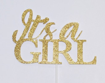 It's a girl | Cake Topper | Baby Shower cake topper