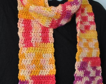 Wool Scarf, Merino Scarf, Crochet Scarf, Handmade Scarf, Neck Scarf, Fall Scarf, Autumn Scarf, Winter Scarf, Scarf for Women