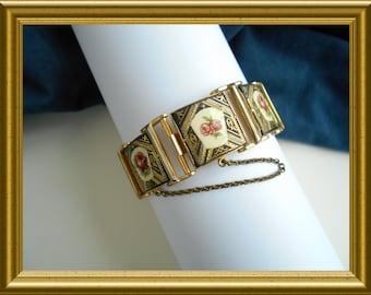 Beautiful vintage bracelet with roses