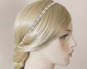 Wedding Tiara, Bridal Headband, Wedding Headpiece, Rhinestone Headband, Hair Jewelry. Bridesmaid  Hair Accessory,Prom Tiara -HA006