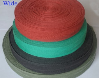 25mm color cotton herringbone craft tape sewing apron trim bunting strap