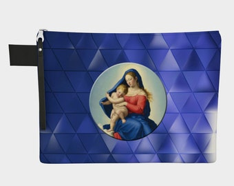 Madonna and Child in Glory - Zipper Carry-All bag - 4 sizes - catholic gift for her - religious bags - Virgin Mary - Pouch - Zipper pouches