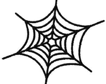 Small Spider Web Machine Embroidery Design - Instant Download