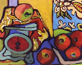 The Patternmakers Kitchen  Abstract Still Life Oil Painting on Canvas