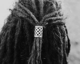 2 Large Tibetan Silver Dreadlock Beads Dread Tie 18mm Hole (11/16 Inch)