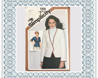 Simplicity 5321 (1981) Misses' lined fitted jacket - Vintage Uncut Sewing Pattern