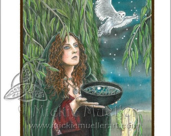 The Willow Card Giclee Print