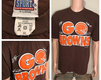 Vintage Cleveland Browns // Retro tshirt // Dawg Poung // big logo shirt // 90s // Size adult xl // rare Go Browns // 90s