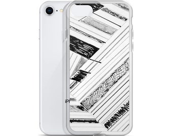 Arty Sketch Drawing Print iPhone Case, Art fashion, iPhone 6, iPhone 6plus,iphone 7,iphone 8,iphone 8 plus, arty fashion, art phone cases,