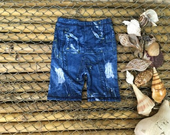 9 months denim pockets look spandex shorts , pants, kids clothes, baby items, toddlers clothes, childrens shorts, fun