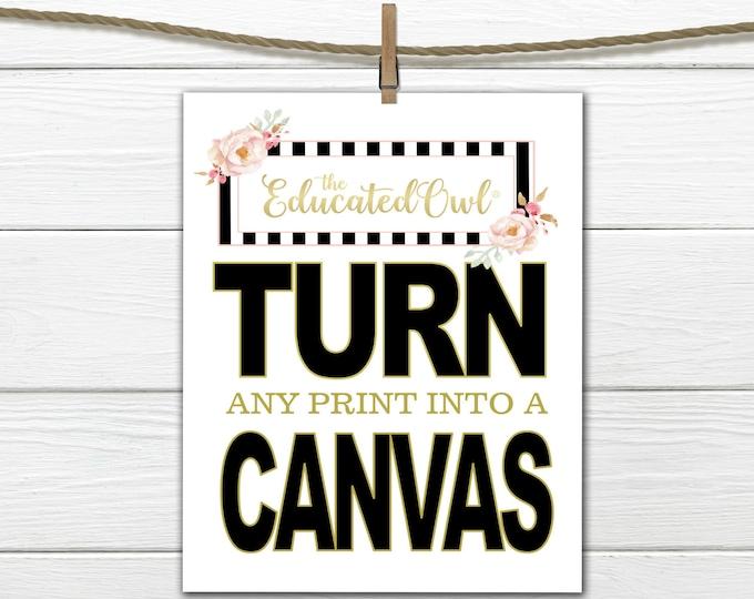 Custom Canvas Prints - Nursery and Home Decor Canvas