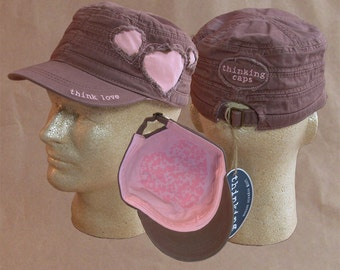 Think LOVE! 100% Organic Cotton Corps-Style Thinking Cap
