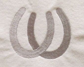 Double Horse Shoes Embroidery Designs - 3 sizes