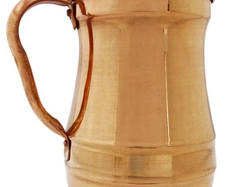 Pure Copper Maharaja Jug Copper Pitcher for Ayurveda Health Benefit 1.5 Liter