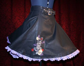 Embroidered steampunk pinup skirt size 38/40