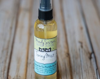 Oily Skin Clarifying Facial Toning Mist - Organic Witch Hazel Face Toner Oily Skin- Face Toner for Oil control