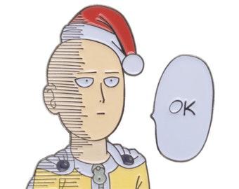 Saitama wishes you an OK christmas - OPM double pinbadge set