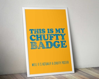 Chufty Badge letterpress style print