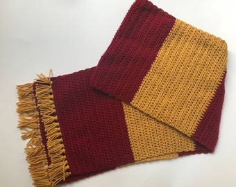 Harry Potter Crochet Scarf