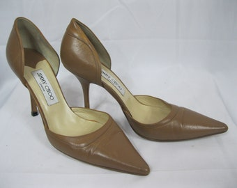 Brown Leather Jimmy Choo Heels Size 39