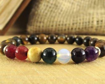 7 chakra bracelet Chakra jewelry Healing bracelet Meditation bracelet Yoga bracelet Mala bracelet Yoga Jewelry Chakra stone bracelet chakras