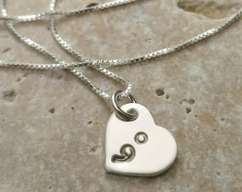 Semicolon Necklace - Suicide Awareness - Suicide Prevention - Semi colon Jewelry - Sterling Silver Heart