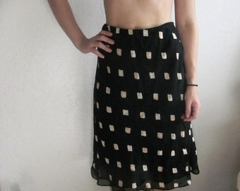 SALE Vintage 60's 70's Midi Skirt Size Small // Women's Vintage Pencil Skirt Funky Vintage Printed Midi Skirt//